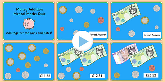 Money Addition Mental Maths PowerPoint - money, money addition, addition, mental maths, maths, numeracy, powerpoint, money powerpoint, maths games, games
