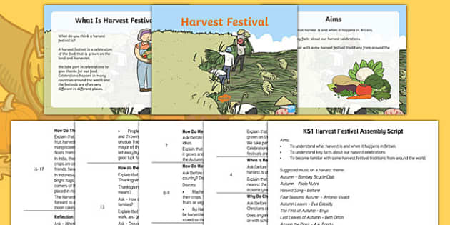 KS1 Harvest Assembly Pack