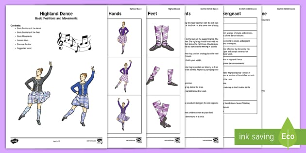 Teaching the Basics of Highland Dance Adult Guidance - Swan Lake - Responding to Dance,Scottish, Highland dance, traditional