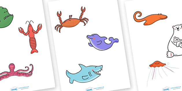 Stick Puppets to Support Teaching on Commotion In The Ocean - Story, book, resources, Giles Andreae, David Wojtowycz, puppet, role play, story sequencing, teaching resources, book resources, sea creatures, sea, book resource