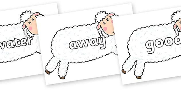 Next 200 Common Words on Hullabaloo Sheep to Support Teaching on Farmyard Hullabaloo - Next 200 Common Words on  - DfES Letters and Sounds, Letters and Sounds, Letters and sounds words, Common words, 200 common words