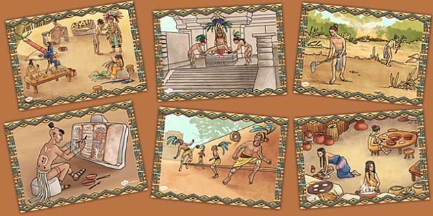 Mayan Civilisation Illustration Pack - maya, pack, civilisation