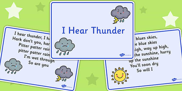 I Hear Thunder Story Sequencing - sequencing, I hear thunder