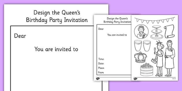 Design the Queen's Birthday Party Invitation - happy birthday, 90th birthday, queen elizabeth ii, party invitation