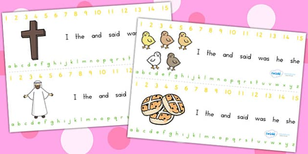 Easter Combined Alphabet and Numbers Strips - easter, a-z, number