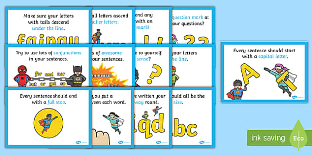 How To Make A Super Sentence - how to make a super sentence, sentence, building, how to make, super sentence, capital letter, full stop, finger space, prompts