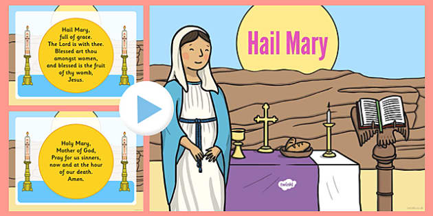 Hail Mary Prayer PowerPoint - hail mary, prayer, powerpoint, words