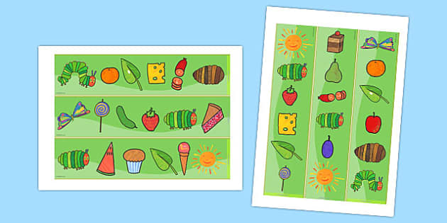 Display Borders to Support Teaching on The Very Hungry Caterpillar - australia, hungry, caterpillar