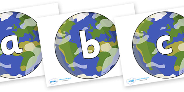 Phoneme Set on Planet Earth - Phoneme set, phonemes, phoneme, Letters and Sounds, DfES, display, Phase 1, Phase 2, Phase 3, Phase 5, Foundation, Literacy