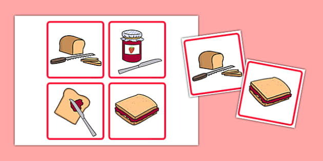 Making a Jam Sandwich Sequencing Cards - making, jam sandwich, sequencing cards, sequencing, cards, sequence