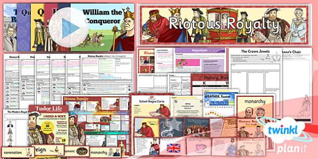PlanIt - History LKS2 - Riotous Royalty Unit Pack - planit, history, lks2, riotous royalty, unit pack