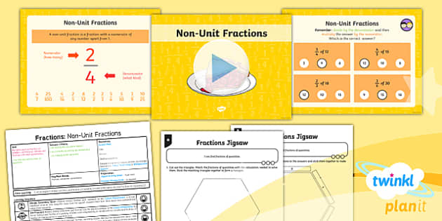 PlanIt Y3 Fractions Lesson Pack Recognise and Use Fractions of a Quantity (2) - fractions, planit, lesson pack, recognise, use, fractions, quantity