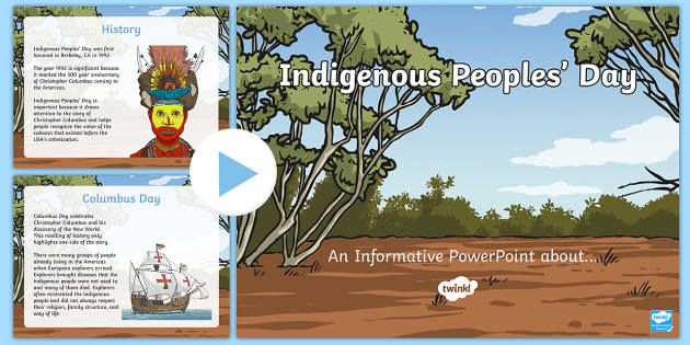 Indigenous Peoples Day PowerPoint - Indigenous Peoples' Day, Columbus Day, Native American, native, Columbus
