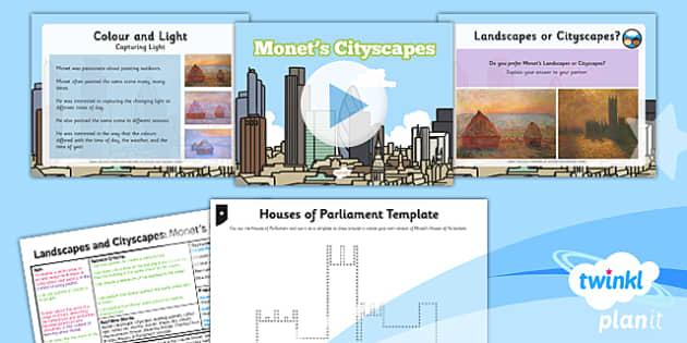 PlanIt - Art and Design KS1 - Landscapes and Cityscapes Lesson 2: Monet's Cityscapes Lesson Pack
