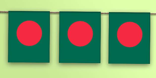 Bangladesh Flag Bunting - bangladesh flag, bangladesh, flag, bunting, display bunting, display