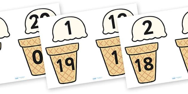 Ice Cream Number Bonds to Twenty - 0-20, bonds, number bonds, number activities, number games, addition, numeracy, number bonds to 20, bonds to twenty