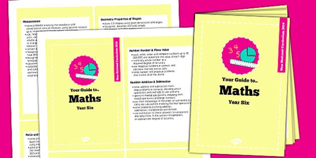 2014 Curriculum Cards Year 6 Maths - new curriculum, planning