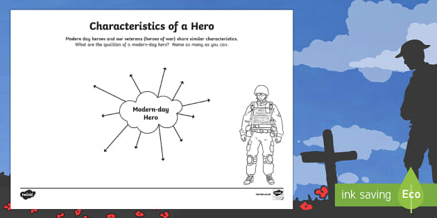 Characteristics of a Hero Activity Sheet