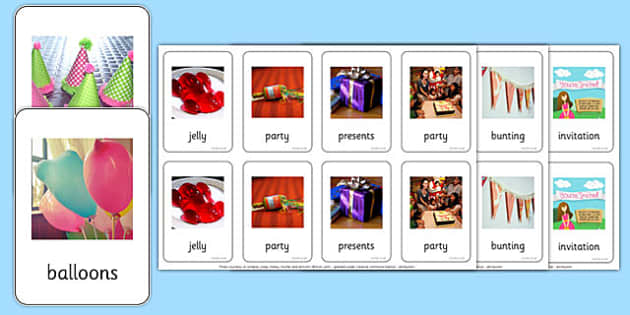 Photo Party Pairs Matching Game - photo, party, pairs, matching, game