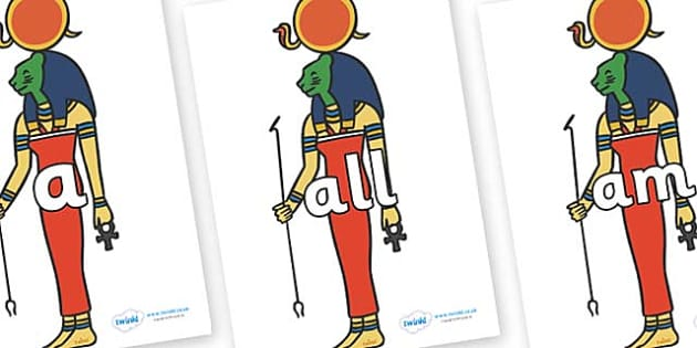 Foundation Stage 2 Keywords on Egyptian Icons - FS2, CLL, keywords, Communication language and literacy,  Display, Key words, high frequency words, foundation stage literacy, DfES Letters and Sounds, Letters and Sounds, spelling