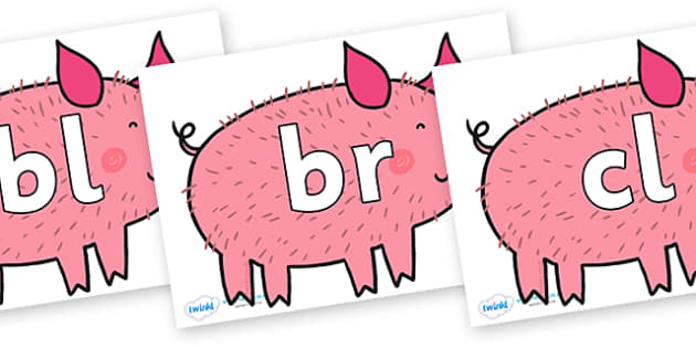 Initial Letter Blends on Hairy Hog to Support Teaching on What the Ladybird Heard - Initial Letters, initial letter, letter blend, letter blends, consonant, consonants, digraph, trigraph, literacy, alphabet, letters, foundation stage literacy