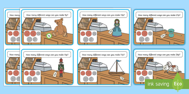 Price Tag  Challenge Cards - Measurement, measures, recognise coins and notes, coins, notes, money, denominations, value, challen