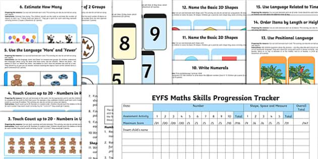 EYFS Maths Skills Progression Tracker and Resource Pack - EYFS, Assessment, Progress, numeracy, number, mathematics