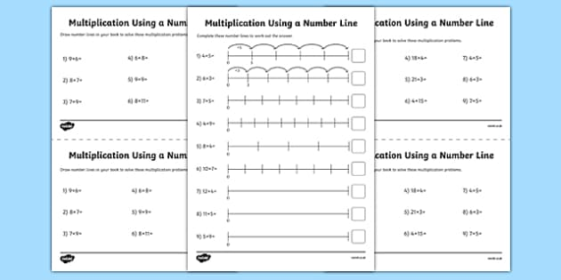 Multiplication on a Number Line Activity Sheet Pack year 2 – Multiplication Ks1 Worksheets