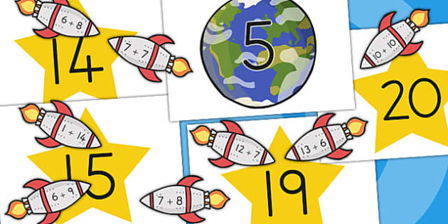 Space Themed Addition to 20 Activity - australia, space, addition