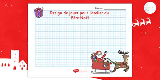 Design de jouet pour l'atelier du Père Noël French - french, nativity, topic, words, christmas