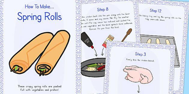 Crispy Spring Rolls Recipe Cards - australia, recipe, spring roll