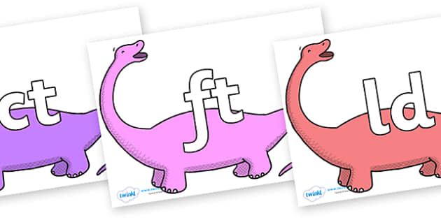 Final Letter Blends on Apatosaurus to Support Teaching on Harry and the Bucketful of Dinosaurs - Final Letters, final letter, letter blend, letter blends, consonant, consonants, digraph, trigraph, literacy, alphabet, letters, foundation stage literac