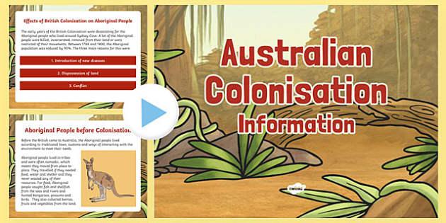 Australian Colonisation Information PowerPoint