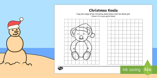 Copy the Christmas Koala Activity Sheet