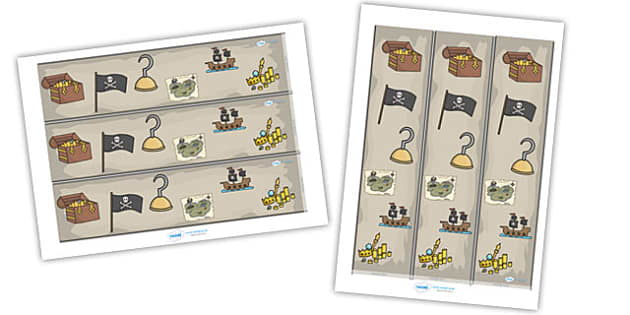 Pirates Display Borders - Pirates, Display border, classroom border, border, Pirate, Topic, cutting, fine motor skills, activity,  pirate, pirates, treasure, ship, jolly roger, ship, island, ocean