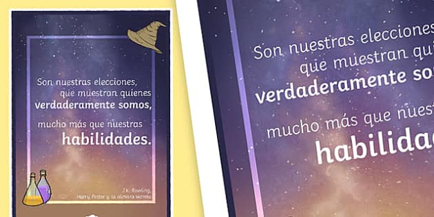 It Is Our Choices Motivational Poster - Spanish