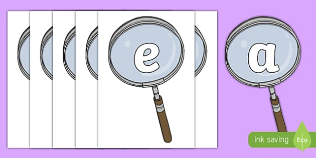 Investigation Area on Magnifying Glasses Display Cut Outs - cut