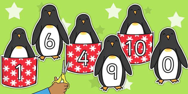 Monty the Penguin Number Bonds to 10 - monty, penguin, number