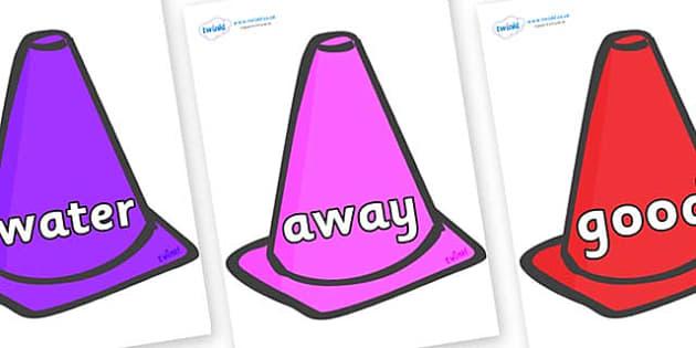 Next 200 Common Words on Cones - Next 200 Common Words on  - DfES Letters and Sounds, Letters and Sounds, Letters and sounds words, Common words, 200 common words