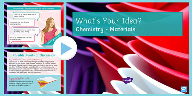 KS3 Materials What's Your Idea? PowerPoint