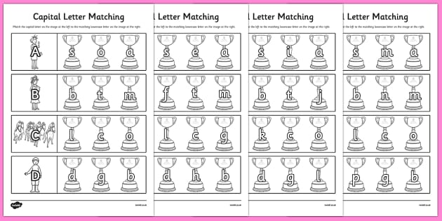 The Melbourne Cup Themed Capital Letter Matching Worksheet - australia, melbourne cup, matching