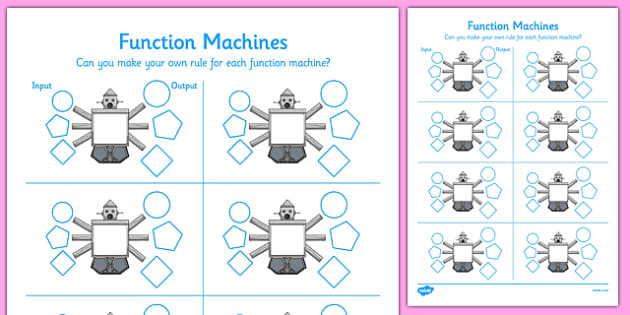 Make Your Own Function Machine - CfE, Function Machines, make, own, function, machine, maths