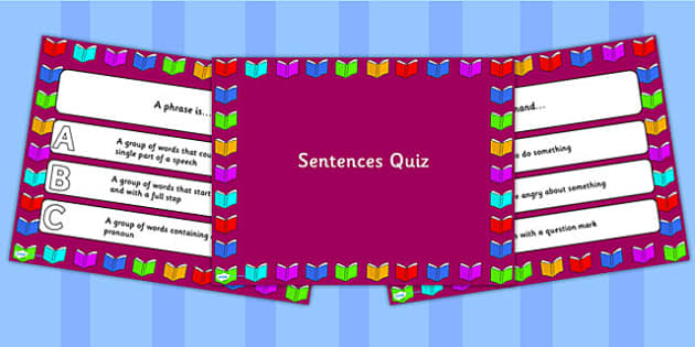 Sentences PowerPoint Quiz - sentences, powerpoint, quiz, sentence