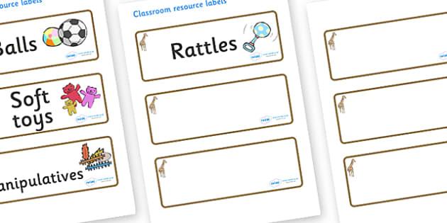 Giraffe Themed Editable Additional Resource Labels - Themed Label template, Resource Label, Name Labels, Editable Labels, Drawer Labels, KS1 Labels, Foundation Labels, Foundation Stage Labels, Teaching Labels, Resource Labels, Tray Labels, Printable