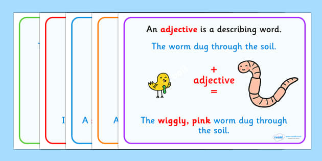 Minibeasts Adjectives Display Posters - display poster, display, posters, minibeasts adjectives, minibeast themed adjectives, adjectives display posters, adjectives posters, minibeast posters, A4 posters, literacy, writing, descriptive writing, poste