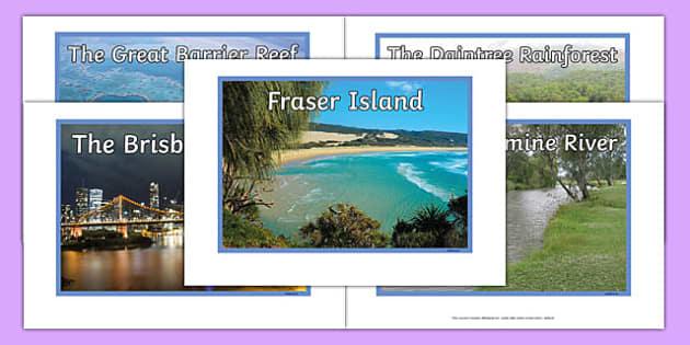 Queensland Natural Features Photo Pack - australia, rivers, lakes, mountains, natural, tourist attraction, landscape, landmark