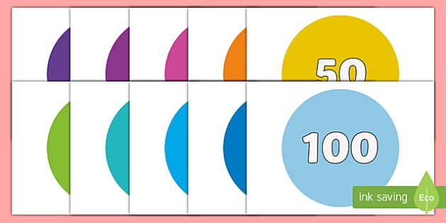 0 to 100 on Circles - 0-100, 0 to 100, circles, display, posters, maths, numeracy, numbers, mathematics