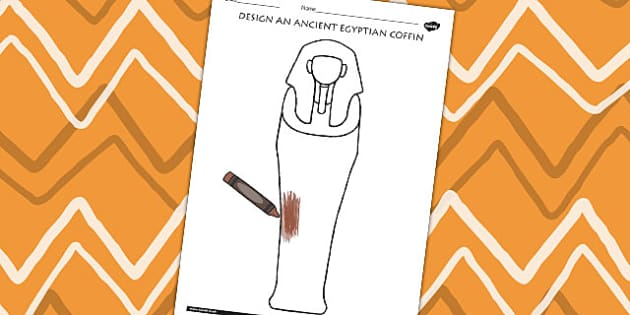 Design An Ancient Egyptian Coffin Activity - egypt, DT, history