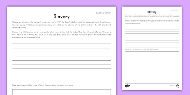 Slavery Writing Prompt - usa, slavery, writing prompt, writing, prompt