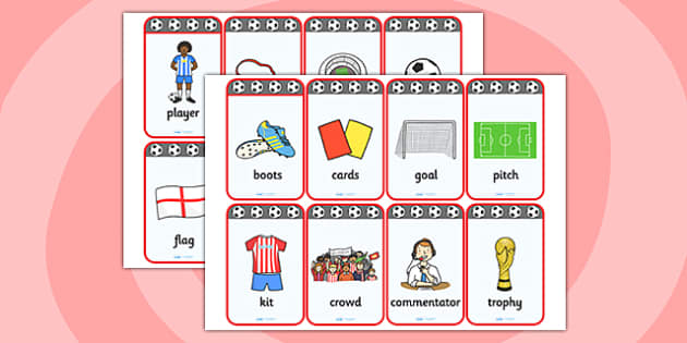 Football World Cup Flashcards - football, world cup, visual aid